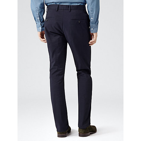 Buy Reiss Wickham Chino Trousers, Midnight Blue Online at johnlewis.com