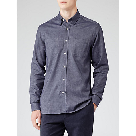 Buy Reiss Breaker Herring Patch-Pocket Shirt Online at johnlewis.com
