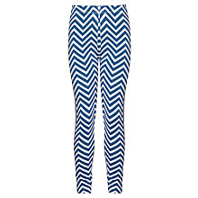 Buy John Lewis Girl Chevron Leggings, Bijou Blue Online at johnlewis.com