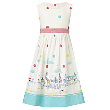 Buy John Lewis Girl Seaside & Polka Dot Print Dress, Cream/Multi Online at johnlewis.com