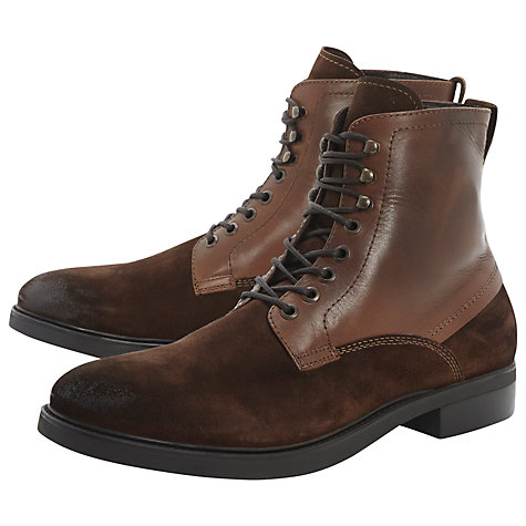 Buy Bertie Chesterfield Leather Lace Up Boots Online at johnlewis.com