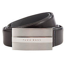 Buy Hugo Boss Baxter Plaque Buckle Leather Belt Online at johnlewis.com