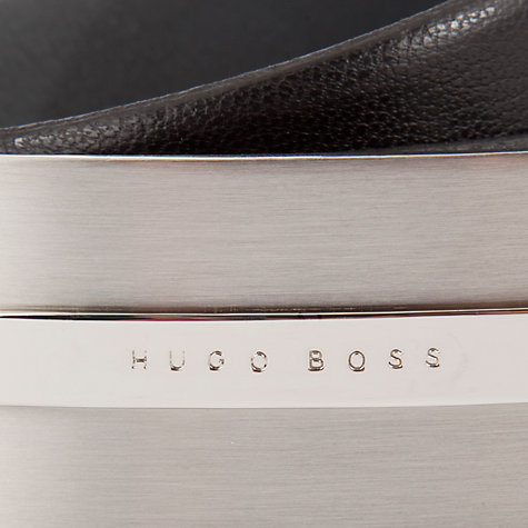 Buy BOSS Baxter Plaque Buckle Leather Belt, Black Online at johnlewis.com