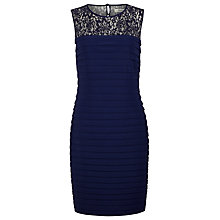 Buy Precis Petite Pleat Embellished Dress, Blue Online at johnlewis.com