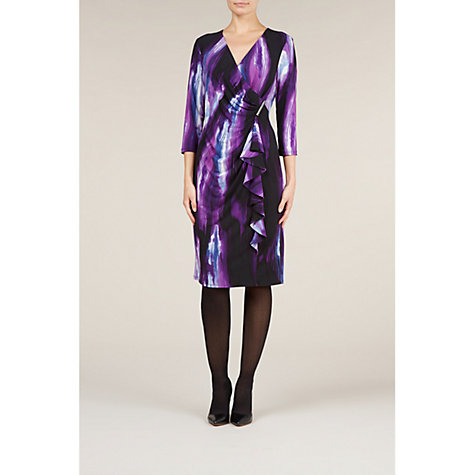 Buy Planet Ruffle Front Limelight Dress, Purple Online at johnlewis.com