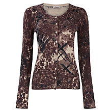 Buy Planet Animal Print Cardigan, Brown Online at johnlewis.com