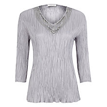 Buy Windsmoor Crinkle Top, Silver Online at johnlewis.com