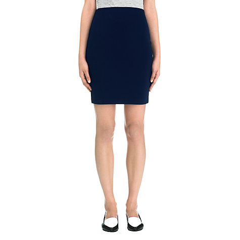 Buy Whistles Neoprene Jersey Tube Skirt, Navy Online at johnlewis.com