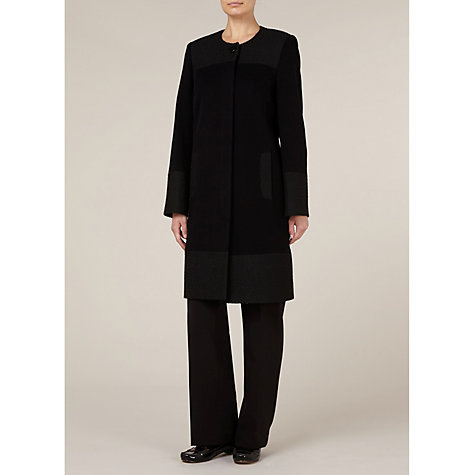 Buy Windsmoor Mid Length Textured Trim Coat, Black Online at johnlewis.com