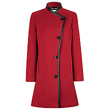 Buy Windsmoor Mid-length Asymmetric Coat, Red Online at johnlewis.com