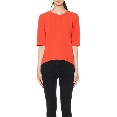 Buy Whistles Sculptured Top, Red Online at johnlewis.com