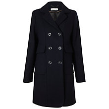 Buy Whistles Lexi Double Breasted Coat, Navy Online at johnlewis.com