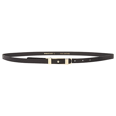 Buy Whistles Skinny Waisted Snake Belt Online at johnlewis.com