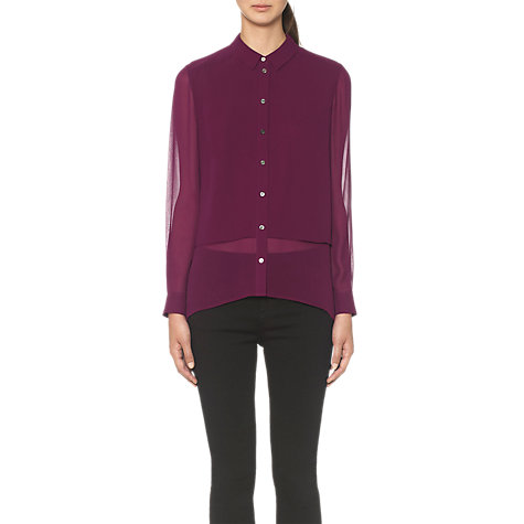 Buy Whistles Carly Double Layer Blouse, Purple Online at johnlewis.com