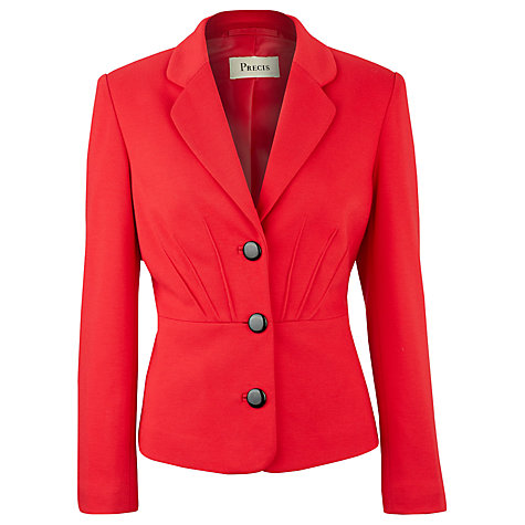 Buy Precis Petite Pintuck Detail Jacket, Red Online at johnlewis.com