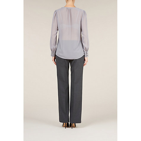 Buy Planet Sequin Chiffon Blouse, Silver Online at johnlewis.com