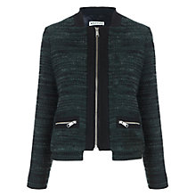 Buy Whistles Adriana Double Hem Jacket, Green Online at johnlewis.com