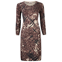 Buy Planet Animal Print Dress, Brown Online at johnlewis.com