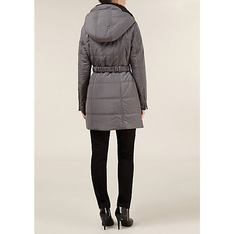 Buy Planet Belted Coat, Silver Online at johnlewis.com