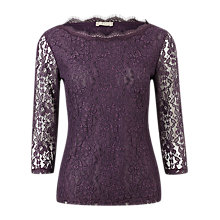 Buy Planet Scallop Top, Purple Online at johnlewis.com