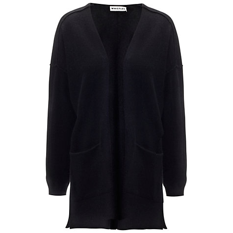 Buy Whistles Cora Cashmere Cardigan, Black Online at johnlewis.com