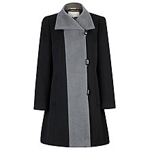 Buy Windsmoor Mid Length Contrast Coat, Black Online at johnlewis.com