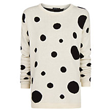 Buy Mango Pointelle Woven Sweater, White Online at johnlewis.com
