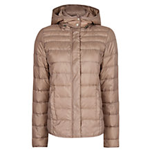Buy Mango Hooded Quilted Coat, Dark Grey Online at johnlewis.com
