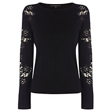 Buy Coast Dionne Knit Top, Black Online at johnlewis.com