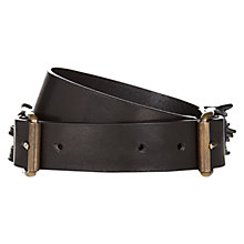Buy Hobbs Meg Belt, Black Online at johnlewis.com