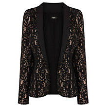 Buy Oasis Lace Tuxedo Jacket, Black Online at johnlewis.com