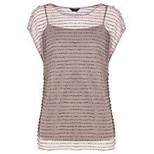 Buy Coast Kelly Beaded Top, Mink Online at johnlewis.com