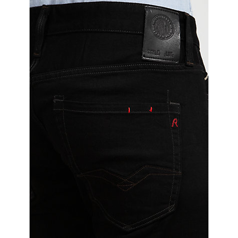 Buy Replay Waitom Slim Fit Jeans, Black Rinse Online at johnlewis.com