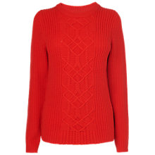 Buy Jaeger London Cable Knit Jumper, Red Online at johnlewis.com