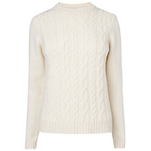 Buy Jaeger London Cable Knit Jumper, Ivory Online at johnlewis.com