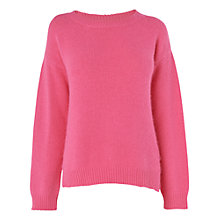 Buy Jaeger Stepped Hem Jumper, Pink Online at johnlewis.com