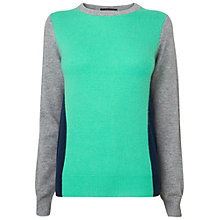 Buy Jaeger Cashmere Mix Bodycon Jumper, Bright Green Online at johnlewis.com