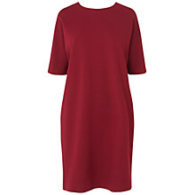 Buy Jaeger Shoulder Zip Dress, Dark Red Online at johnlewis.com
