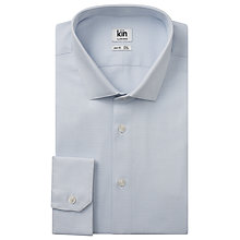 Buy Kin by John Lewis Furse Dobby Long Sleeve Shirt, Blue Online at johnlewis.com