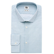 Buy Kin by John Lewis Smith Geo Print Long Sleeve Shirt, Steel Blue Online at johnlewis.com