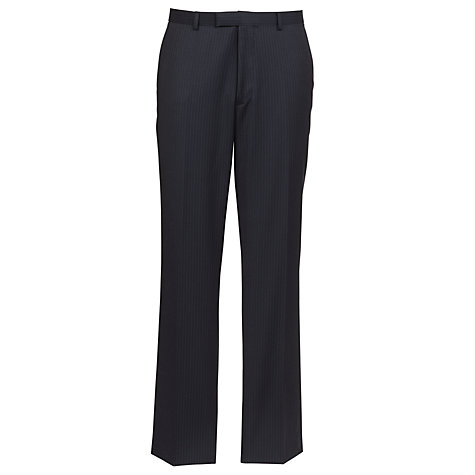 Buy John Lewis Tailored Pinstripe Suit Trousers, Navy Online at johnlewis.com