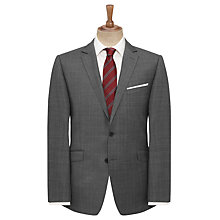 Buy John Lewis Windowpane Tailored Suit Jacket, Grey Online at johnlewis.com