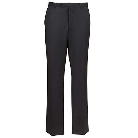 Buy John Lewis Tailored Pinstripe Suit Trousers, Charcoal Online at johnlewis.com