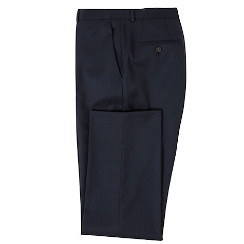 Buy John Lewis Micro Grid Tailored Suit Trousers, Navy Online at johnlewis.com