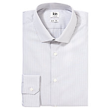Buy Kin by John Lewis Eldon Fine Stripe Long Sleeve Shirt, Grey Online at johnlewis.com