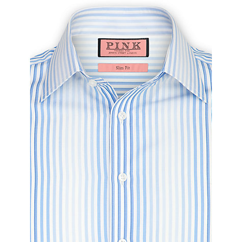 Buy Thomas Pink Noel Stripe Shirt, White/Blue Online at johnlewis.com