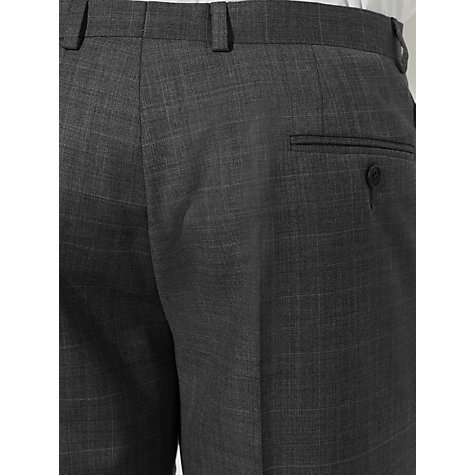 Buy John Lewis Windowpane Tailored Suit Trousers, Grey Online at johnlewis.com