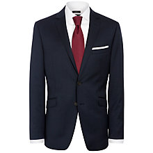 Buy John Lewis Micro Grid Tailored Suit Jacket, Navy Online at johnlewis.com