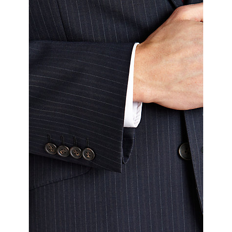 Buy John Lewis Tailored Pinstripe Suit Jacket, Navy Online at johnlewis.com