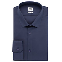 Buy Kin by John Lewis Webb Oxford Long Sleeve Shirt, Indigo Online at johnlewis.com